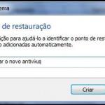 como criar um ponto de restauracao no windows 7